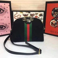 PEAP GUCCI WOMEN'S LEATHER INCLINED SHOULDER BAG