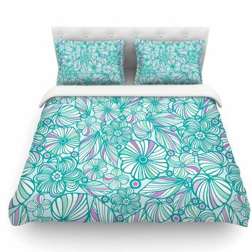 My Flowers by Julia Grifol Featherweight Duvet Cover