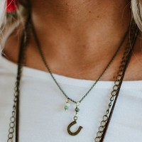 Feeling Lucky Horseshoe Charm Necklace