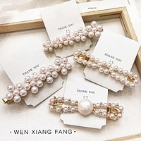 Fashion New More Style Pearl Hair Clip Women Headwear Accessories