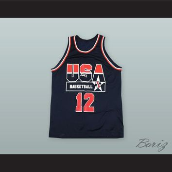 Dominque Wilkins 12 USA Basketball Jersey