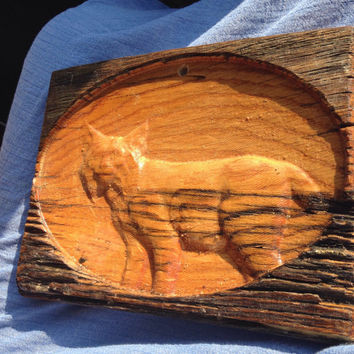 Bobcat Carving in Wood Wild Animal Carved In Old Barnwood Forest Nature Mountain Outdoors Fur Rustic Primitive lcww