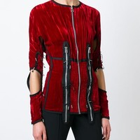 Jean Paul Gaultier Vintage 'femmes Entre Elles' Ruched Zip Top - House Of Liza - Farfetch.com