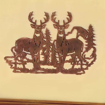 Die Cut Wildlife Wall Art Silhouette Rustic Lodge Country Cabin Decor Bear Deer or Moose