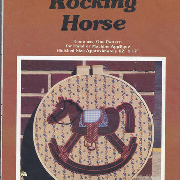 Vintage Applique Pattern featuring Rocking Horse, from Yours Truly, 1979, Product no. 3007