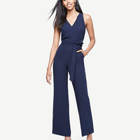 Sleeveless Belted Jumpsuit | Ann Taylor