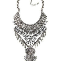 Ancient Queen VAMP akasha Metal Collar Torture Couture vampire gothic burlesque showgirl glam statement necklace jeweled