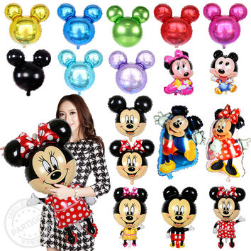 Large Size Mickey Minnie Mouse Foil Balloon Inflatable Air Ballon Baby Shower Birthday Wedding Party Supplies Kid's Toys Globos