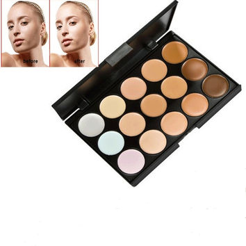 15 Colors Professional Contour Face Cream Makeup Concealer Palette Cosmetics