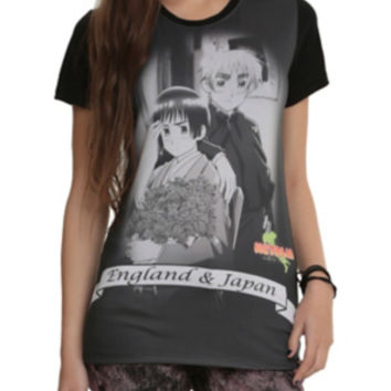 Hetalia: World Series England & Japan Sublimation Girls T-Shirt