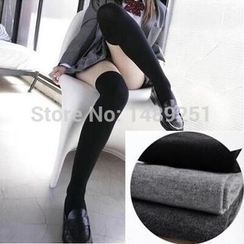 4 Colors Winter Warm Cotton Stocking Pantyhose Women Over The Knee Stockings Plus Size Thigh High Stockings Cheap Wholesale