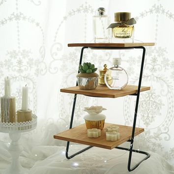 Cupcake Display Stand Removable Wooden 3 Tiers