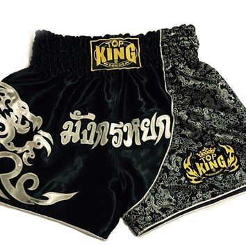 2016 NEW Free Shipping Fighting Shorts Muay Thai Shorts Boxing Pants Men's Sport Clothes Boxeo Free Combat Pants Golden Flame