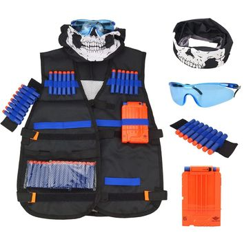 Kids Tactical Elite Nerf N-Strike Ammo Holster Vest with Accessories
