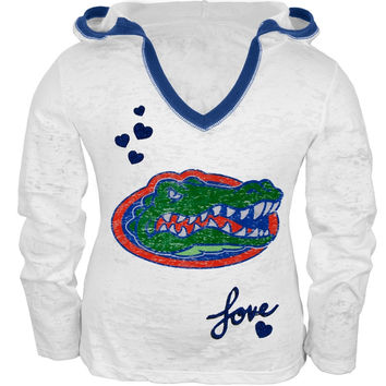 Florida Gators - Girls Juvy Burnout Hooded Long Sleeve T-Shirt