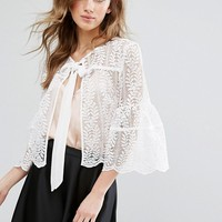 Miss Selfridge Lace Jacket at asos.com