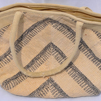 Boho Carpetbag Purse Handbag Vintage Retro 1970s Stripes Pouches Hippie Hipster Carpet Bags of America