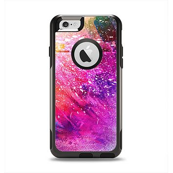 The Abstract Neon Paint Explosion Apple iPhone 6 Otterbox Commuter Case Skin Set