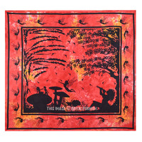 Red Multi Fairyland Tie Dye Wall Tapestry, Hippie Tie Dye Sheet Bedding on RoyalFurnish.com