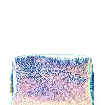 Holographic Pebbled Makeup Bag