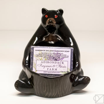 Adirondack Farms Bear Soap Dish Gift Set