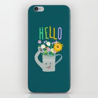 Happy Day- Watering Can iPhone & iPod Skin by Sagacious Design