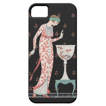 Art Deco George Barbier Goldfish iPhone 5 Case from Zazzle.com