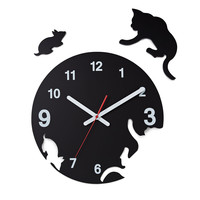 CAT AND MOUSE POP OUT CLOCK | Modern Black Clock, George Nelson | UncommonGoods
