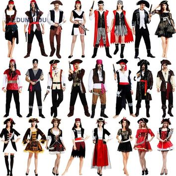 New Pirates of the Caribbean Costumes Halloween Fancy Party Dress Carnival Performance Adult Pirate Women Cosplay Clothes