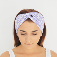 lilac hairband, headbands,lilac twist  headbands,turban