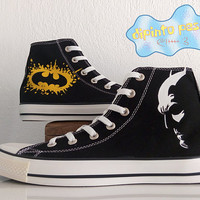 Batman Hand Painted Custom Shoes