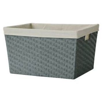 Lined Laundry Basket - Grey Weave - Threshold™