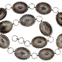 Concho Belt Early Navajo Sterling Silver