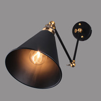 1 Bulb +Edison Vintage Industrial Loft Adjustable Swing Arm Wall Sconce Retro Warehouse Ambient Lighting E27 American Wall Lamps