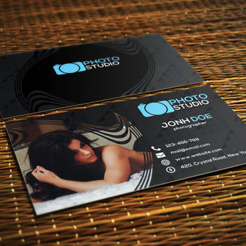 Photography Business Card | Template for Photographers | Instant Download | Business Card Template
