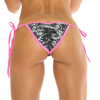 New Digital Camouflage Scrunch Bikini Bottom Stripper Clothing