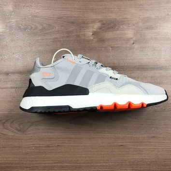 HCXX A1180 Adidas Nite Jogger 2019 Boost Breathable Running Shoes Gray Orange