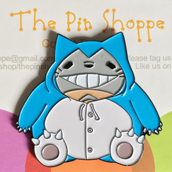 TOTOLAX - Totoro and Snorlax Enamel Pin - Soft Enamel Hat Pin