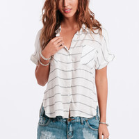 Draw The Line Striped Blouse