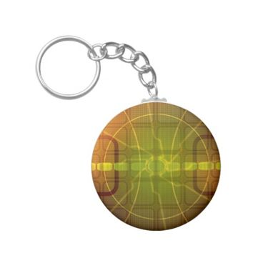 Abstract Tech Dynamic Pattern Button Keychain