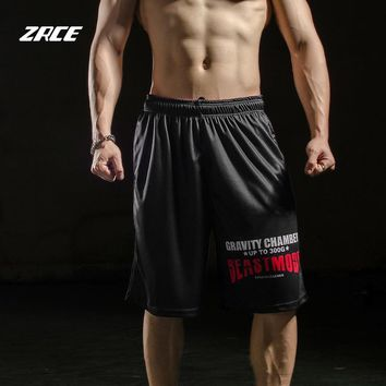 ZRCE New Arrivals 100% Polyester Breathable Quick Dry Summer Fitness Shorts Jogging Basketball Shorts Gym Simple Men Shorts