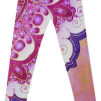 Colorful Watercolor Mandala Leggings created by Octavia Soldani | Print All Over Me