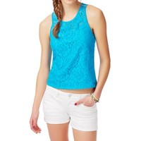 Floral Lace-Front Tank