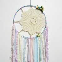 Lace Pastel Vintage Doily Dreamcatcher Floral Tribal Dream Catcher Sun Ornament Gypsy Junk Home Wreath Shabby Gift Bedroom Fairy Kei