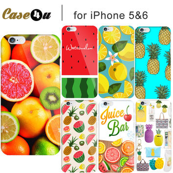 Lovely Colorful Summer Fruit Strawberry Watermelon Phone Case for Fundas iPhone 5 6 6s SE Covers Cover Pineapple Capinhas