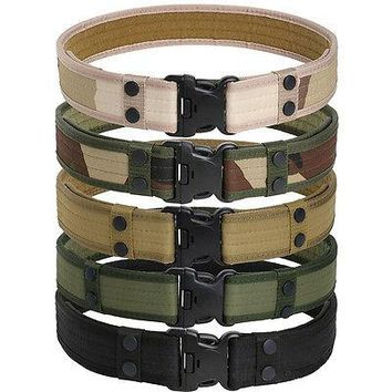 U.S. Army Style Combat Belts Quick Release Tactical Belt Men Canvas Waistband Outdoor Hunting
