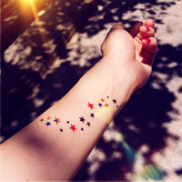 Star MIlky way colored temporary tattoo - InknArt Temporary Tattoo - wrist quote tattoo body sticker fake tattoo wedding tattoo small tattoo