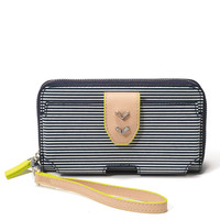 Madison Tech Wallet - Navy Breton Stripe