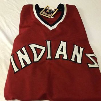 ESBONC. BRAND NEW FRANK ROBINSON #20 RETRO CLEVELAND INDIANS RED PULLOVER MAJESTIC JERSE