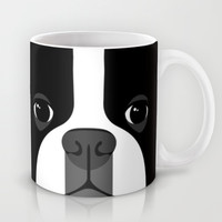 Boston Terrier Close Up Mug by Anne Was Here